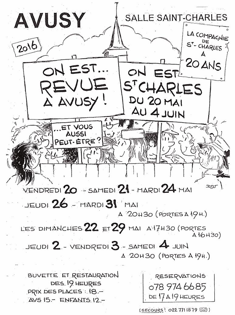 La Revue d'Avusy, affiche 2016