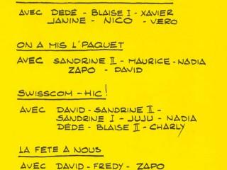 Rôles 2000 La Revue