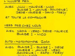 Rôles suite 2000 La Revue