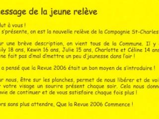Message de la jeune relève 2006 La Revue