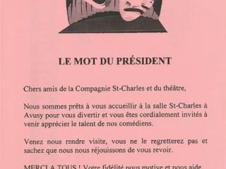 Le mot du président 1998 Feu la mère de Madame