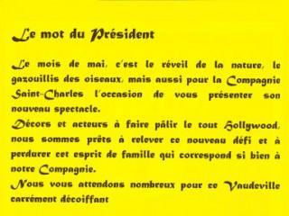 Le mot du président 2001 Assassins Associés