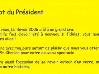 Le mot du président 2008 Fred